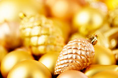 Christmas toys background. Gold collection Stock Photography
