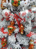 Christmas toys background. September, 2013 stock photo