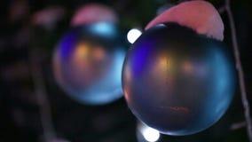 Christmas toys ball stock footage