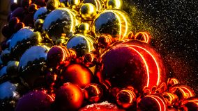 Christmas toys, balls, Christmas tree. happy New Year stock image