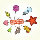 Christmas toys banner Stock Images