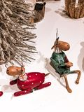 Christmas toys in the best view. Beautiful photo royalty free stock photos