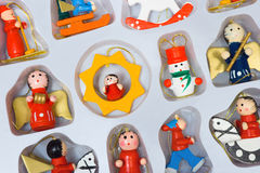 Christmas toys in box Royalty Free Stock Images