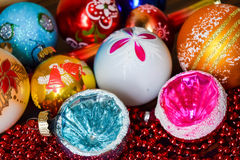 Christmas toys. Bright and colorful Stock Images