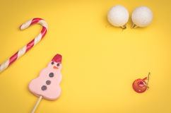 Christmas toys and candies Royalty Free Stock Photo