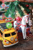Christmas toys. A childhood christmas toys holidays vintage royalty free stock photos