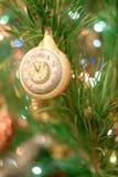 Christmas toys on the Christmas tree. Royalty Free Stock Photos