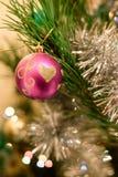 Christmas toys on the Christmas tree. Royalty Free Stock Photography