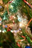 Christmas toys on the Christmas tree. Stock Image