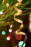 Christmas toys on the Christmas tree. Stock Photo