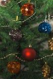 Christmas toys closeup. Colorful bright Christmas toys closeup Royalty Free Stock Photo