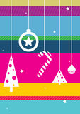 Christmas toys. On colorful background. Colored illustration. EPS 10.0. RGB. Illustration can be used as template for events greeting cards or for holiday menus Stock Image