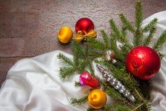Christmas toys on dark background Royalty Free Stock Photography