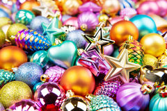 Christmas toys decorations background texture Stock Images