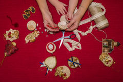 Christmas toys and decorations Stock Photos