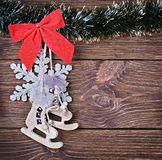 Christmas toys and decorations Royalty Free Stock Photography
