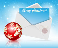 Christmas toys and envelope Stock Images