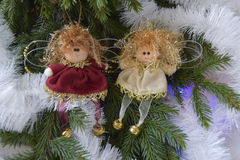 Christmas toys in the form of angels Stock Image