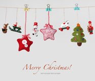 Christmas toys garland background Royalty Free Stock Photo