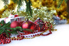 Christmas toys and gifts Royalty Free Stock Photo