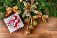 Christmas toys and gifts Royalty Free Stock Photos
