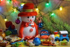 Christmas toys & gifts Royalty Free Stock Photography