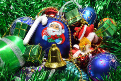 Christmas toys. Holiday illustrations of Christmas decorations Stock Image