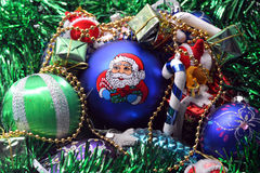 Christmas toys. Holiday illustrations of Christmas decorations Stock Images