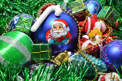 Christmas toys. Holiday illustrations of Christmas decorations royalty free stock image