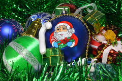 Christmas toys. Holiday illustrations of Christmas decorations Stock Photos