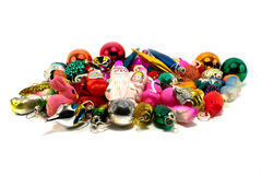 Christmas toys isolated. On a white Royalty Free Stock Image