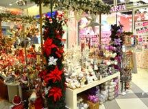 Christmas toys kiosk stock photos