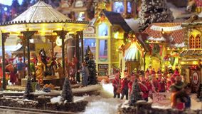 Christmas Toys. Model Village. stock footage