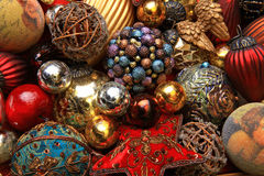 Christmas toys. My Christmas tree toys collection Royalty Free Stock Photo