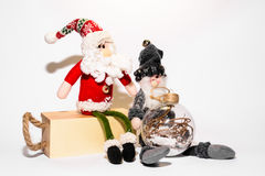 Christmas toys with ornaments Royalty Free Stock Image