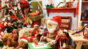Christmas toys puppets mechanical animated. Christmas toys or puppets mechanical animated stock video footage