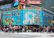 Christmas at Toys R Us. Toys R Us at Times Square with Christmas design Stock Photo