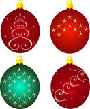 Christmas toys round. Royalty Free Stock Images