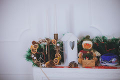 Christmas toys Rustic style Royalty Free Stock Photos