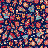 Christmas toys. Seamless pattern. Holiday background. Best for greeting cards Royalty Free Stock Photos