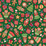 Christmas toys. Seamless pattern. Holiday background. Best for greeting cards Royalty Free Stock Image