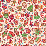 Christmas toys. Seamless pattern. Holiday background. Best for greeting cards Royalty Free Stock Photography