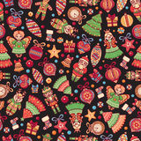 Christmas toys. Seamless pattern. Holiday background. Best for greeting cards Royalty Free Stock Photo
