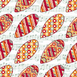 Christmas toys. Seamless pattern. Holiday background. Best for greeting cards Stock Photo