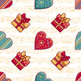 Christmas toys. Seamless pattern. Holiday background. Best for greeting cards Stock Photos