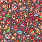 Christmas toys Seamless pattern Holiday background Stock Image