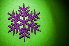 Christmas toys simbol flake on green background horizontal versi Royalty Free Stock Images