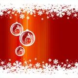 Christmas toys & snowflakes Royalty Free Stock Photos