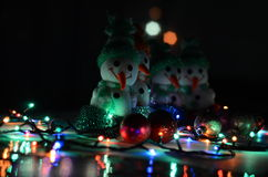 Christmas Toys. Snowmen royalty free stock photography
