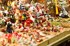 Christmas toys in store Royalty Free Stock Images